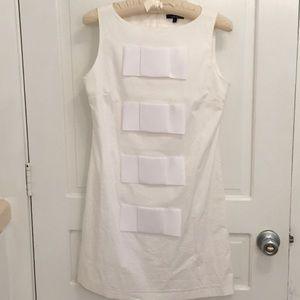 Tailor New York Bow Front White Sleeveless Dress